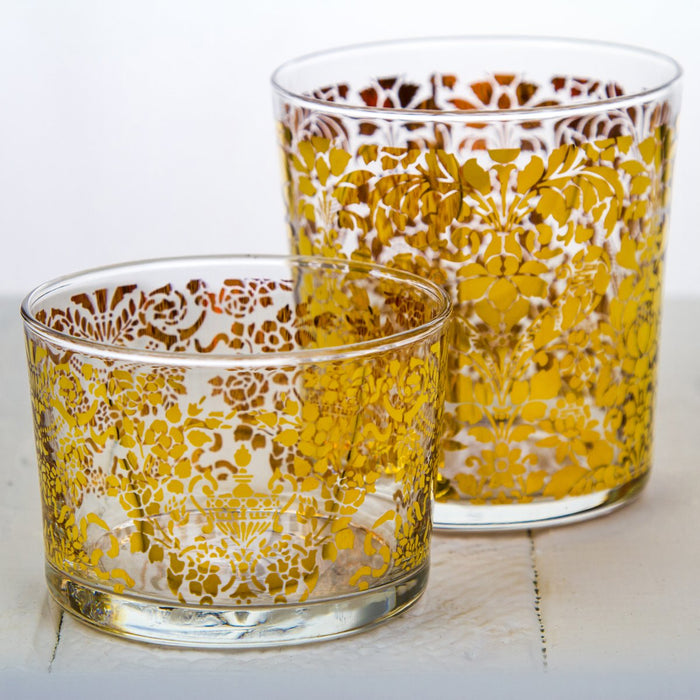 Short Golden Tapestry Tumbler