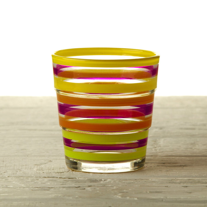 Short Triad Striped Drinking Glass