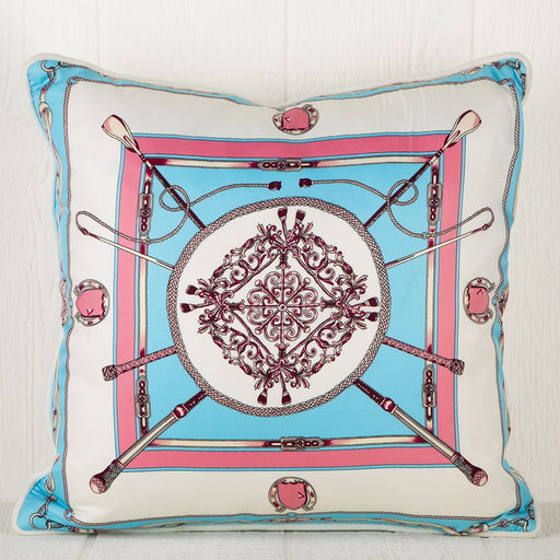 Silk Scarf Pillow - Medallion