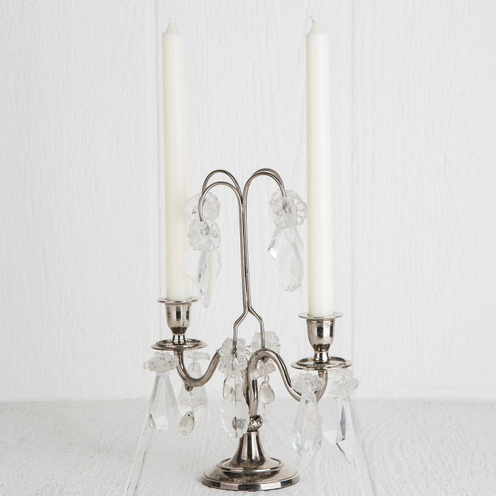 Silver Two Arm Candelabra