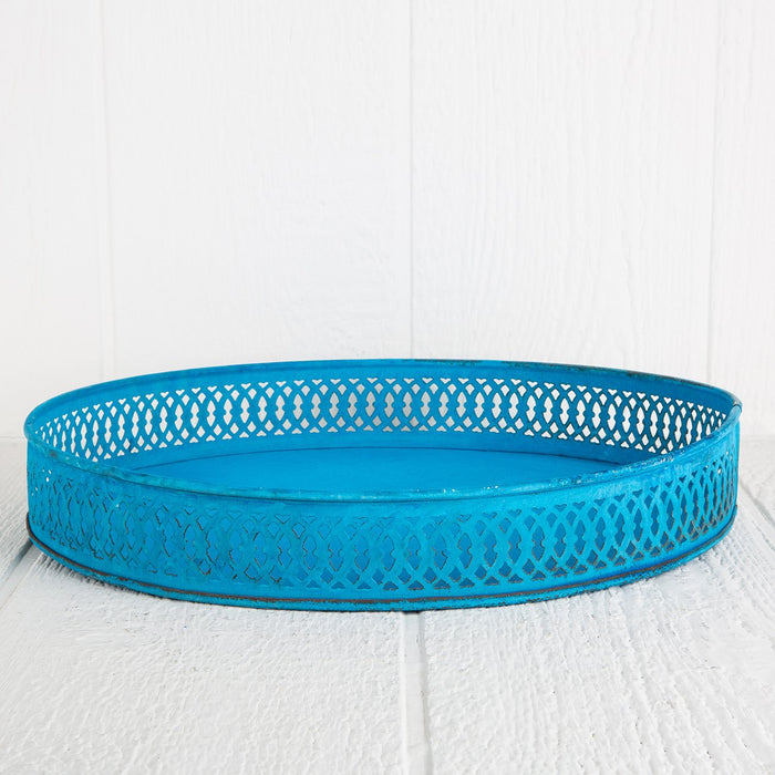 Small Blue Moroccan Tray