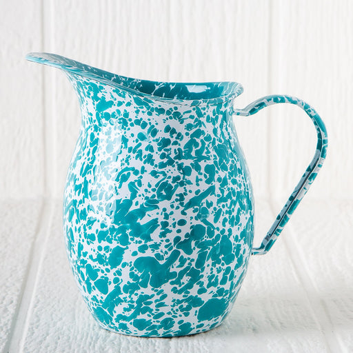 Small Enamelware Pitcher (Turquoise)