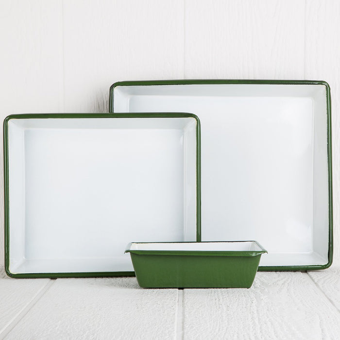 Small Green Decorative Metal Tray