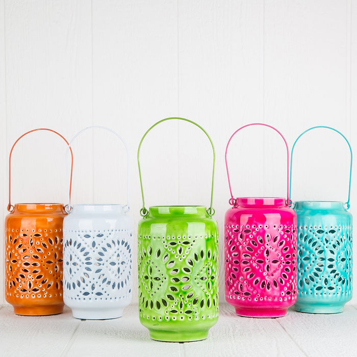 Small Orange Ankara Lanterns