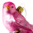 Small Pink Finch Glass Ornament