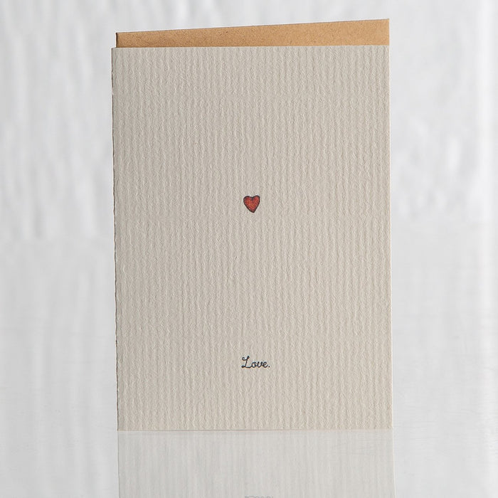 Small Recycled Love Greeting Card