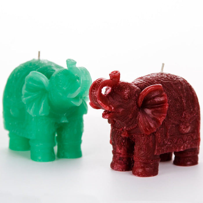 Small Turquoise Elephant Candle