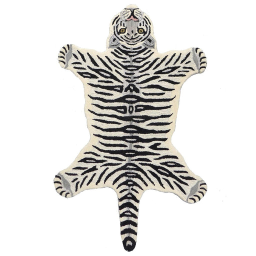 Snow Tiger Animal Rug (Small)