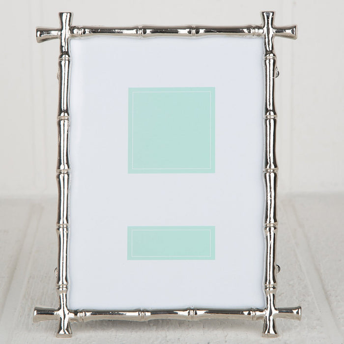 "Stainless Steel Bamboo Picture Frame (4x6"")"