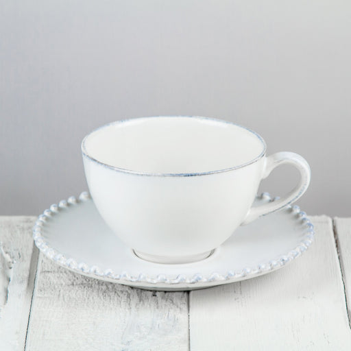 Stoneware Cup and Saucer