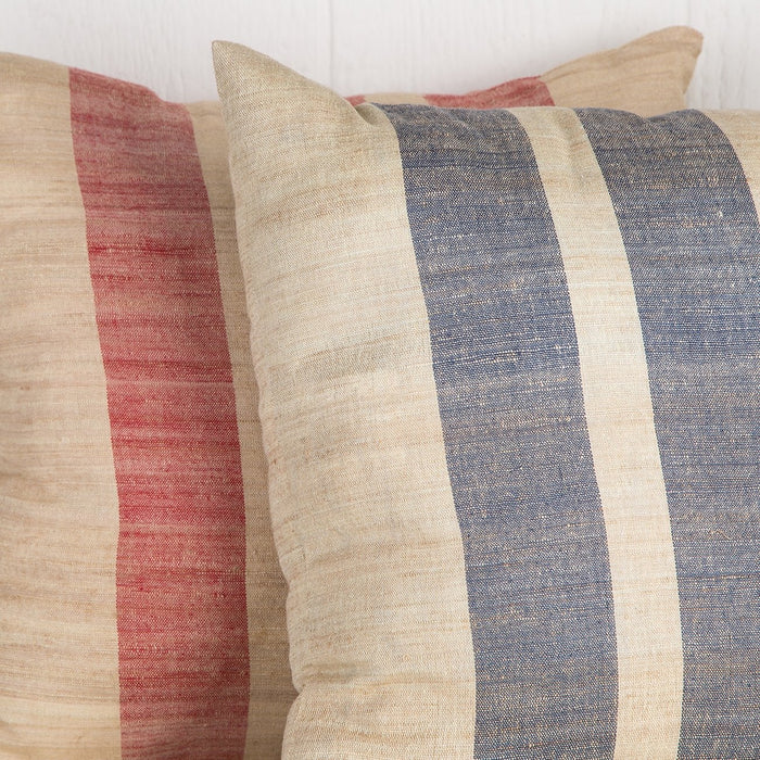 Sustainable Threads Blue Striped Pillow