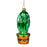 Tall Cactus Glass Ornament
