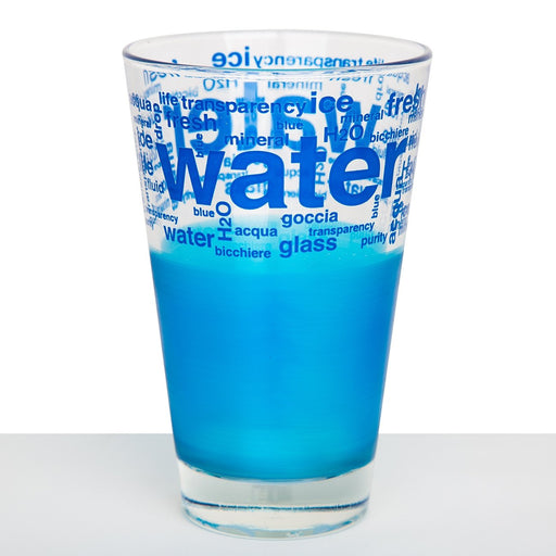 "Tall ""Water"" Glass, Blue"