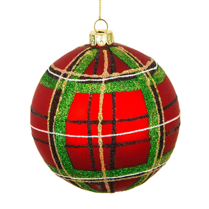 Tartan Glass Ball Ornament