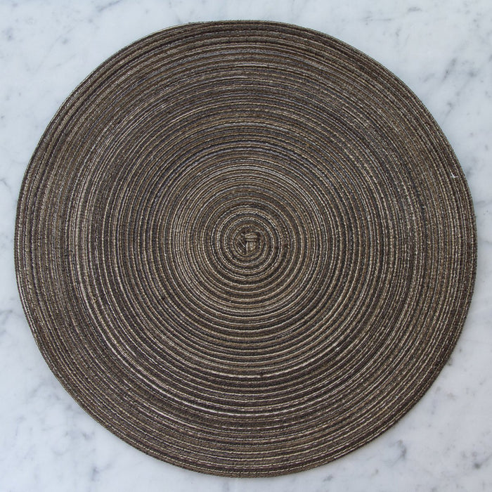Taupe Round Placemat (15.25 Ø)