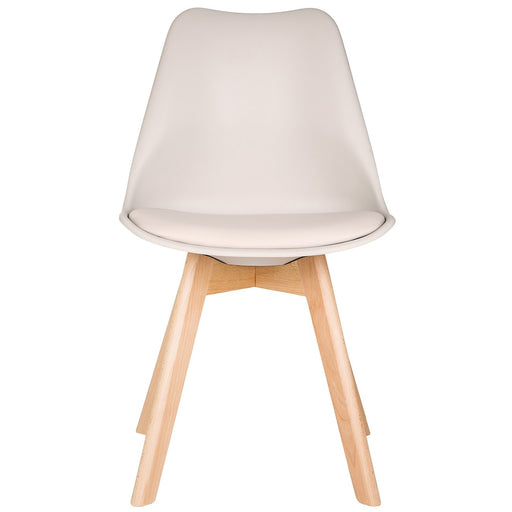 Taupe Scandinavian Tulip Chair