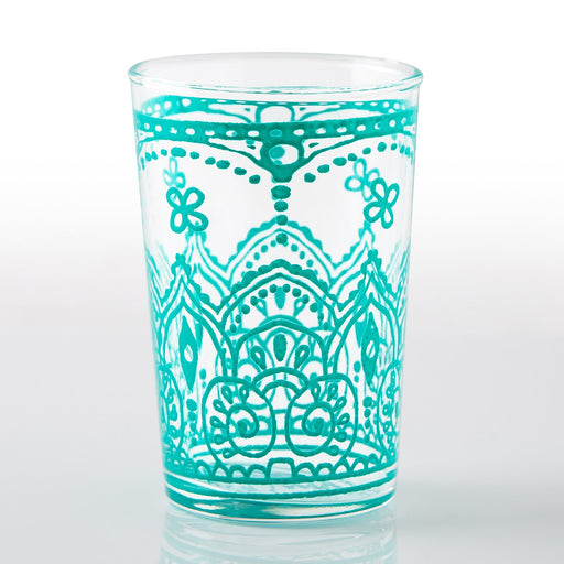 Teal Armelle Moroccan Tea Glass