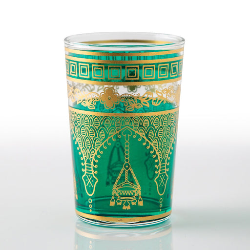 Teal Misbah Moroccan Tea Glass (Short)