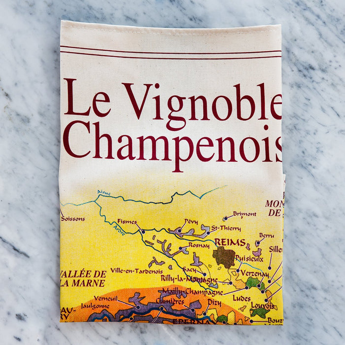 The Champenois Vineyard 100% Durable Cotton Tea Towel