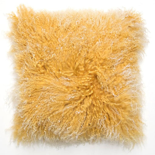 Tibetan Curry Fur Pillow