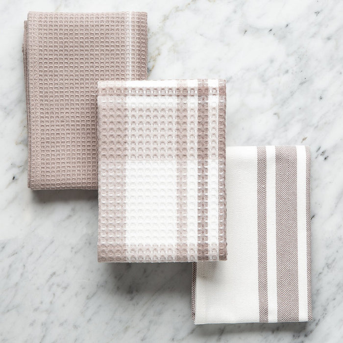 Toffee Grey Set of 3 Cuisine Towels