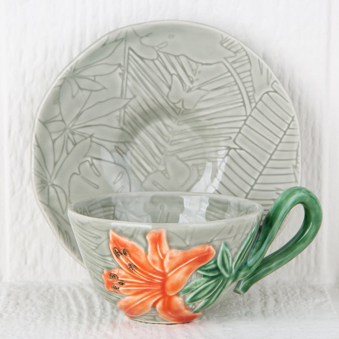 Tropical Teacup and Saucer