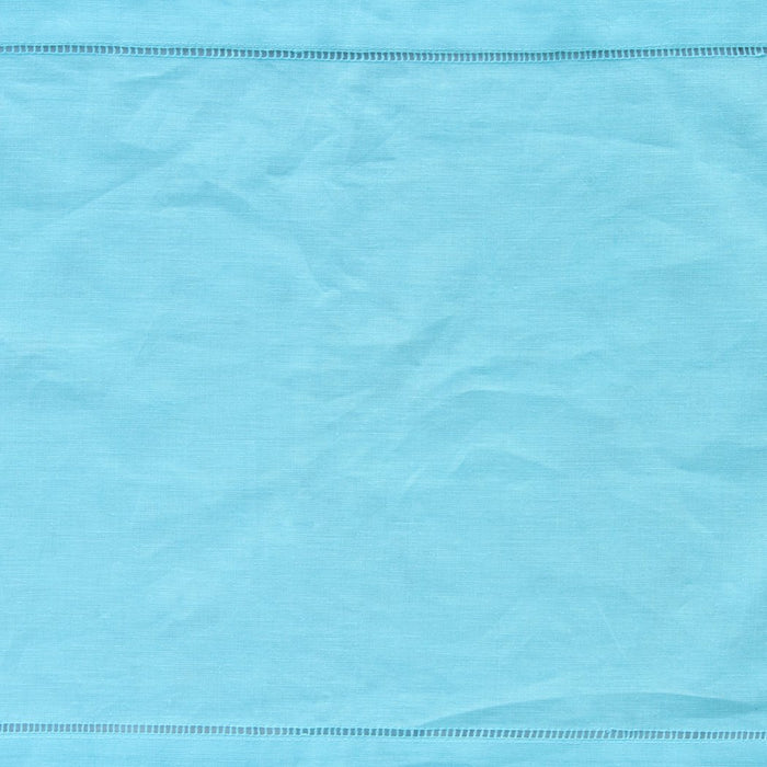 "Turquoise 100% Linen Hemstitched Placemat (19.5"" x 14"")"
