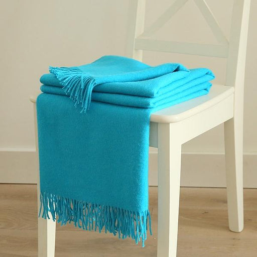 Turquoise Baby Alpaca Bella Throw Blanket