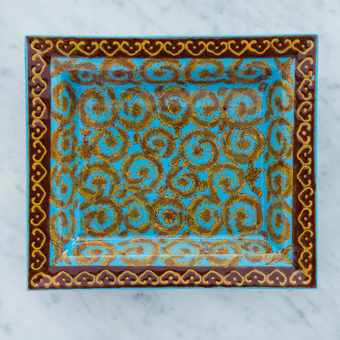 Turquoise Bay Tree Wreath Decorative Tray