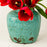 "Turquoise Ginger Crackled Pot (6.5"" h)"