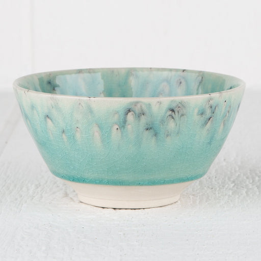 Turquoise Maderia Soup Bowl