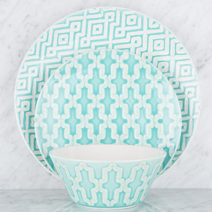 Turquoise Pattern Dessert Plate