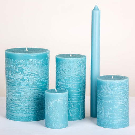Turquoise Pillar Candles