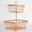 Two-Tier Copper Wire Basket