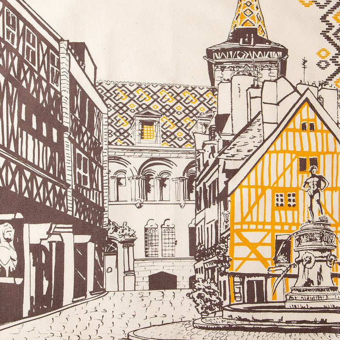 Ville De Dijon 100% Cotton Tea Towel