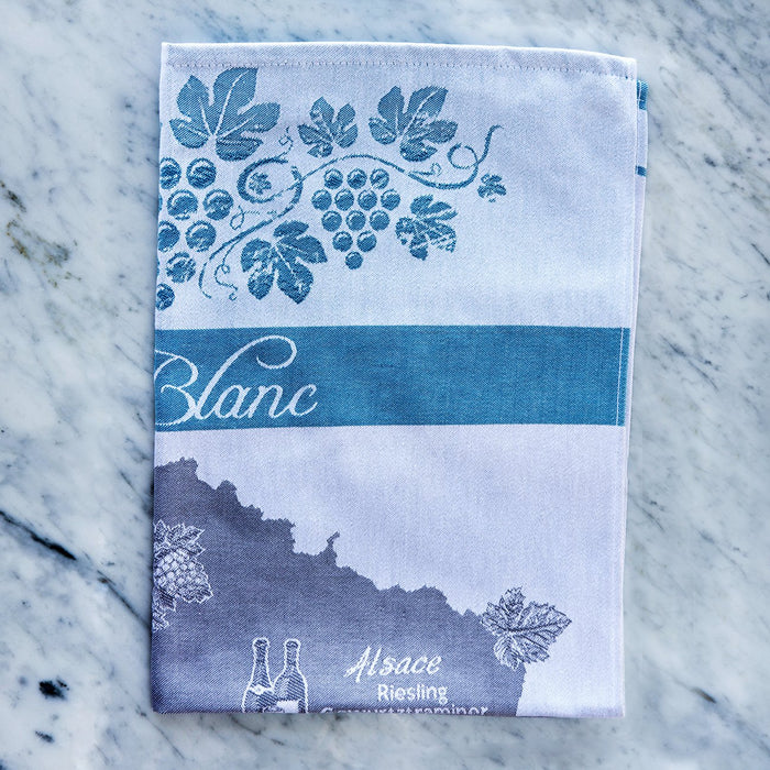 Vin Blanc 100% Cotton Jacquard Tea Towel