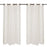 "Waffled Ivory Oeillet Curtains (57"" x 98.5"")"