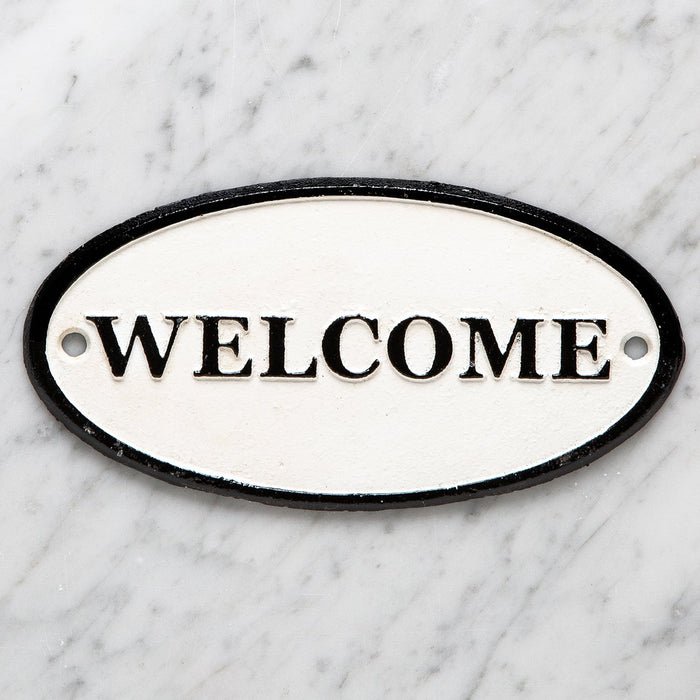 Welcome Cast Iron Plaque