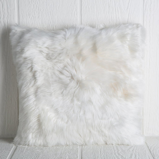 White Alpaca Pillow