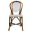 White & Blue Mediterranean Bistro Chair (L)