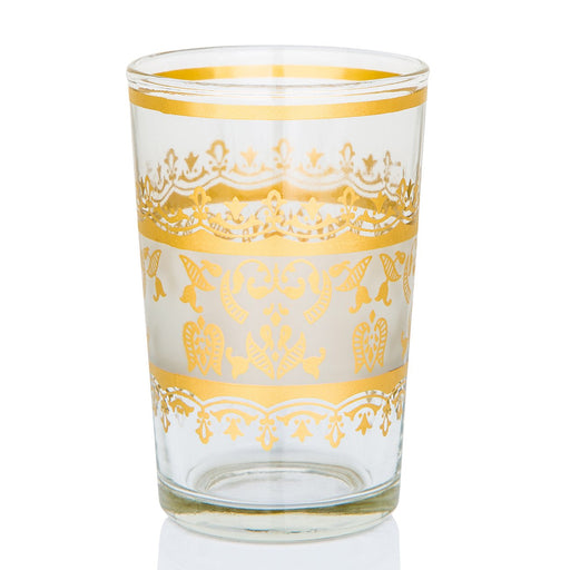 White and Gold Moroccan Tea Glass