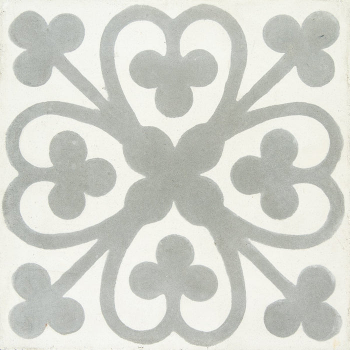 "White & Grey Girofle Carocim Tile (8"" x 8"") (pack of 12)"