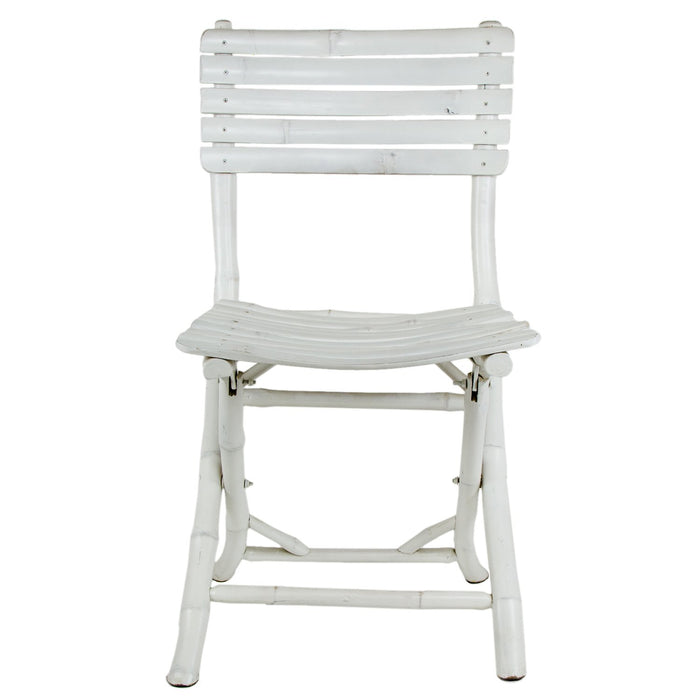 White Bamboo Folding Chair