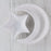 "White Ceramic Crescent Moon Serving Dish (8.5"" w)"