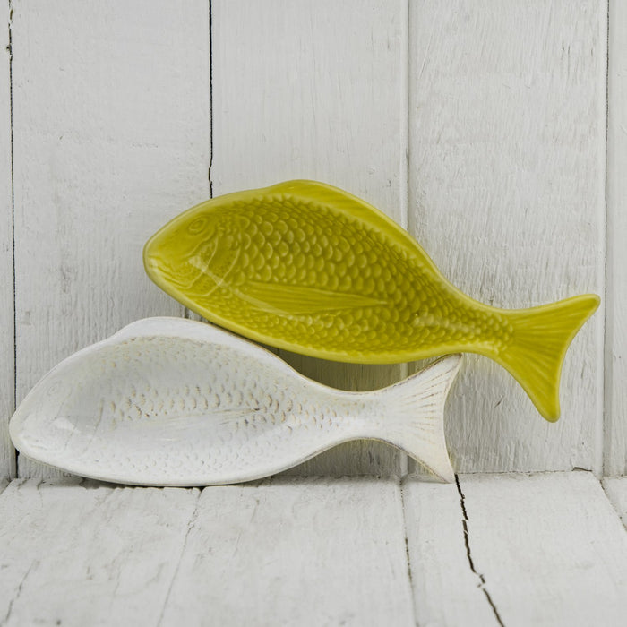 White Ceramic Fish Dish