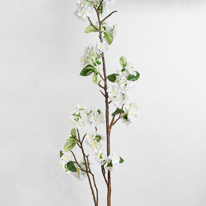 White Cerasus Silk Flower