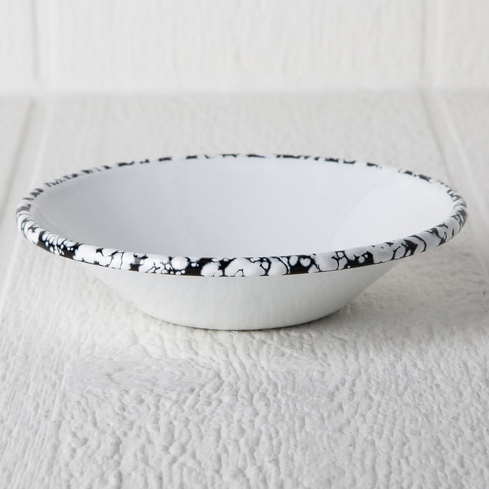 White Enamelware Bowl