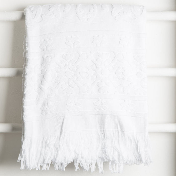 White Hammam Bath Towel