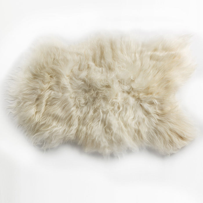 White Icelandic Sheep Rug