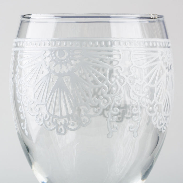 White Lalla Moroccan Wine Glass